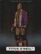 2010 WWE Platinum Trading Cards Titus O'Neal 85
