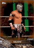 2017 WWE Road to WrestleMania Trading Cards (Topps) Kalisto 10
