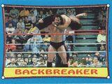1987 WWF Wrestling Cards (Topps) Backbreaker (No.32)