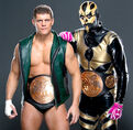 Cody rhodes and goldust as the tag team champions