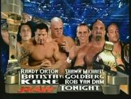 Batista, Kane & Randy Orton vs Goldberg, Rob Van Dam & Shawn Michaels