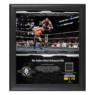 War Raiders NXT TakeOver Brooklyn 2018 15 x 17 Framed Plaque w Ring Canvas