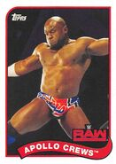 2018 WWE Heritage Wrestling Cards (Topps) Apollo Crews 5