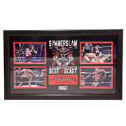 CM Punk and Brock Lesnar with Paul Heyman Summerslam 2013 The Best vs. The Beast Signed Commemorative Plaque