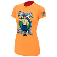 John Cena Respect. Earn It. Orange Women's Authentic T-Shirt