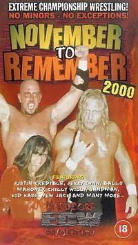 Image result for Ecw november to remember 2000