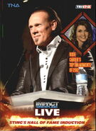 2013 TNA Impact Wrestling Live Trading Cards (Tristar) Sting's Hall of Fame Induction 99