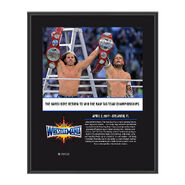 The Hardy Boyz WrestleMania 33 10 X 13 Commemorative Photo Plaque