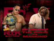 The Rock vs. Mankind Rock Bottom In Your House