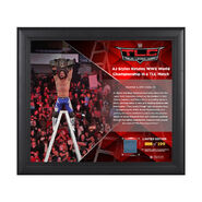 AJ Styles TLC 2016 15 x 17 Framed Plaque w Ring Canvas