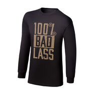 Becky Lynch 100% Bad Lass Long Sleeve T-Shirt