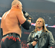 Kane talking with bret hart
