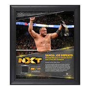 Samoa Joe TakeOver Toronto 15 x 17 Framed Plaque w Ring Canvas