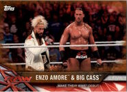 2017 WWE Road to WrestleMania Trading Cards (Topps) Enzo Amore & Big Cass 71
