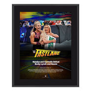 Carmella & Natalya FastLane 2018 10 x 13 Photo Plaque