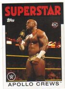 2016 WWE Heritage Wrestling Cards (Topps) Apollo Crews 58