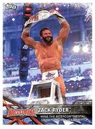 2017 WWE Road to WrestleMania Trading Cards (Topps) Zack Ryder 56