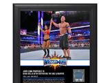 John Cena & Nikki Bella WrestleMania 33 15 x 17 Framed Plaque w Ring Canvas