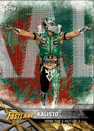 2017 WWE Road to WrestleMania Trading Cards (Topps) Kalisto 25