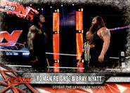 2017 WWE Road to WrestleMania Trading Cards (Topps) Roman Reigns & Bray Wyatt 77