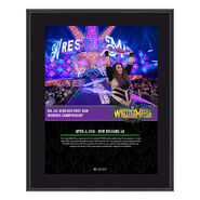 Nia Jax WrestleMania 34 10 x 13 Photo Plaque