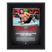 AJ Styles Hell in a Cell 2018 10 x 13 Commemorative Plaque