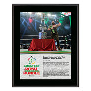 Braun Strowman Greatest Royal Rumble 2018 10 x 13 Photo Plaque