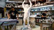 Ultimate Warrior Statue making.2