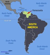 Venezuela south america map location