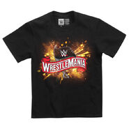 WrestleMania 36 Cannon Burst Logo Youth T-Shirt