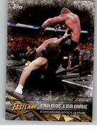 2017 WWE Road to WrestleMania Trading Cards (Topps) Roman Reigns & Dean Ambrose 28