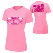 Big Show Rise Above Cancer Pink Womens T-Shirt