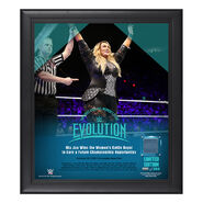 Evolution 2018 Nia Jax 15 x 17 Framed Plaque w Ring Canvas