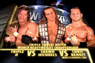 Wrestlemania 20 Triple H vs Chris Benoit vs Shawn Michaels