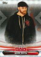 2019 WWE Raw Wrestling Cards (Topps) Sami Zayn 63