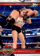 2019 WWE Road to WrestleMania Trading Cards (Topps) Kurt Angel & Ronda Rousey 36