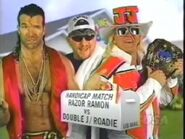 Razor Ramon Vs Jeff Jarrett And The Roadie