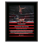 Finn Balor TLC 2018 10 x 13 Commemorative Plaque