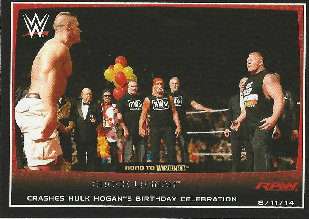Image 2015 Wwe Road To Wrestlemania Trading Cards Topps Brock