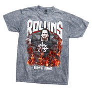 Seth Rollins Burn it Down Mineral Wash T-Shirt