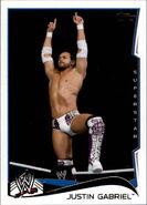 2014 WWE (Topps) Justin Gabriel 77