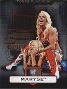 2010 WWE Platinum Trading Cards Maryse 54