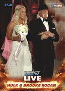 2013 TNA Impact Wrestling Live Trading Cards (Tristar) Hulk & Brooke Hogan 3