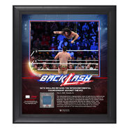 Seth Rollins BackLash 2018 15 x 17 Framed Plaque w Ring Canvas