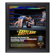 Charlotte FastLane 2018 15 x 17 Framed Plaque w Ring Canvas