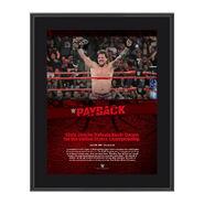 Chris Jericho Payback 2017 10 x 13 Commemorative Photo Plaque