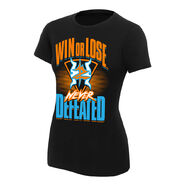 Zack Ryder & Curt Hawkins Never Defeated Women's Authentic T-Shirt