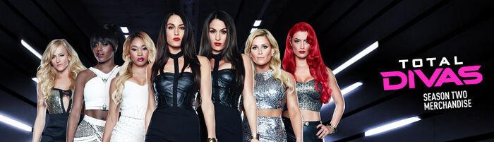 WWE Total Divas Merchandise banner
