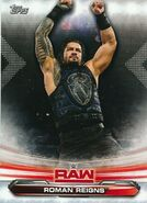 2019 WWE Raw Wrestling Cards (Topps) Roman Reigns 60