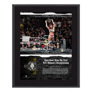 Kairi Sane NXT TakeOver Brooklyn 2018 10 x 13 Commemorative Plaque